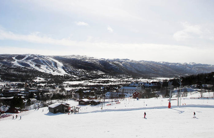 The huge Geilo ski resort of western Norway.