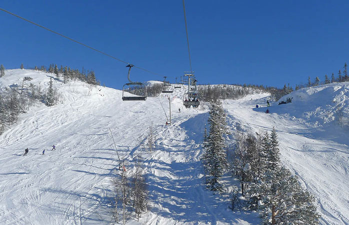 Hit the slopes at Hemsedal ski resort.