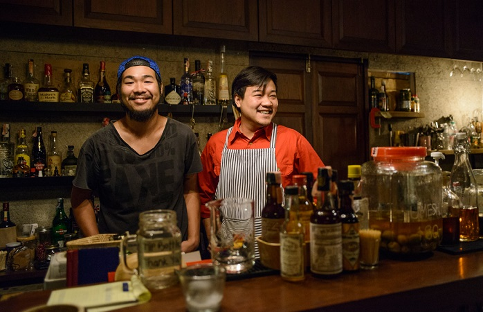Image of two local bartenders