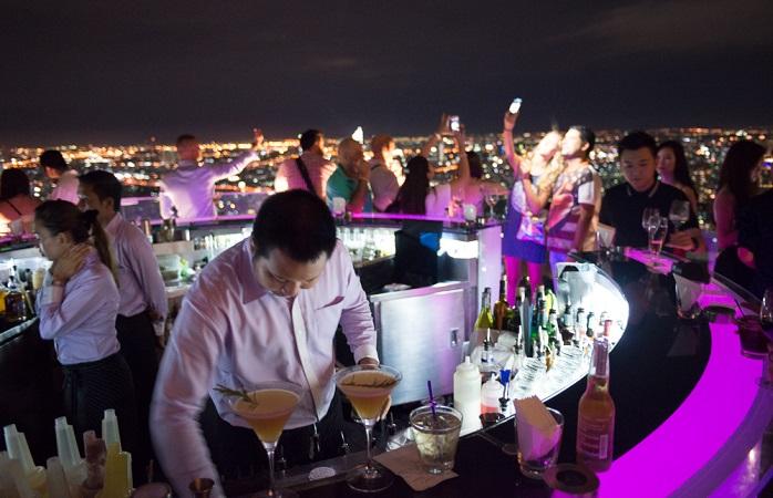 Image of fancy rooftop bar