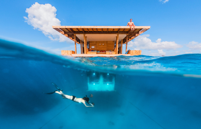 Disconnect under the sun or under the sea at Manta Resort © Genberg Art UW LTD/Jesper Anhede