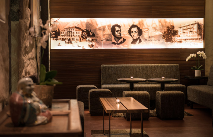 Take a breather in the Kloster Lounge & Bar at Hotel Interlaken