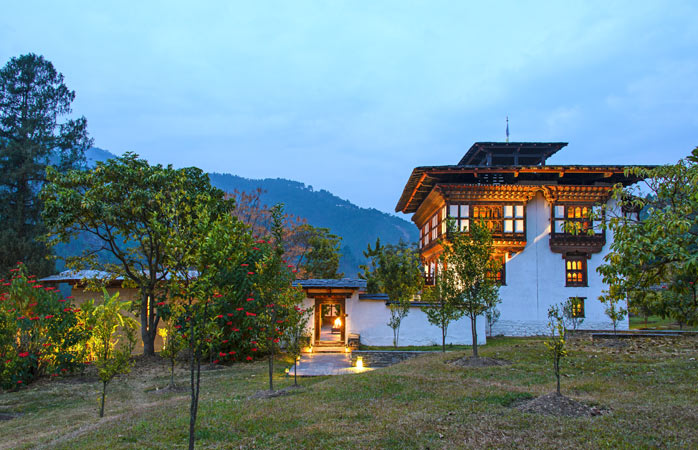 Discover the true meaning of peace and quiet at Amankora's Punakha lodge