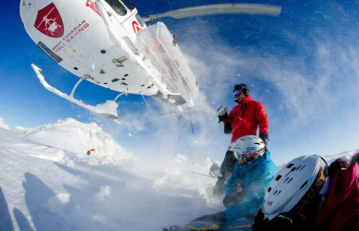 Ski in small groups with Great Canadian Heli-skiing