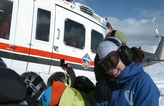 Heli-skiing started in BC
