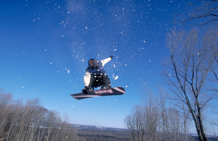 There's plenty of freestyle boarding options at St Louis Moonstone Resort