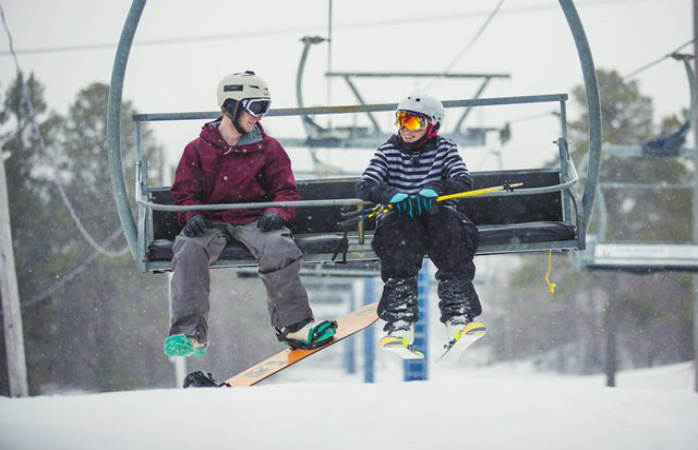 Searchmont has great beginner and off-piste skiing