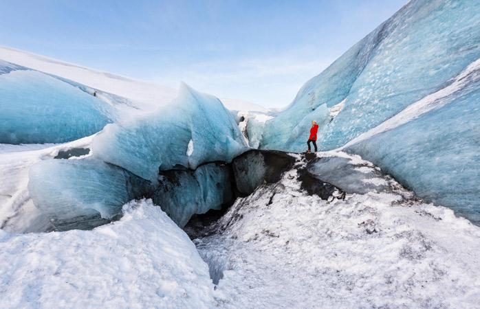 Glacier walking at Sólheimajökull