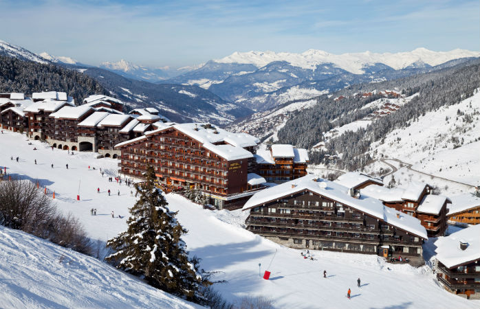 Ski on, ski off hotels are the most convenient option