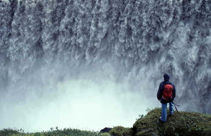 The Dettifoss Waterfall in its majestic and powerful pose