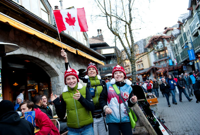There's fun for everyone in Whistler-Blackcomb's buzzing village