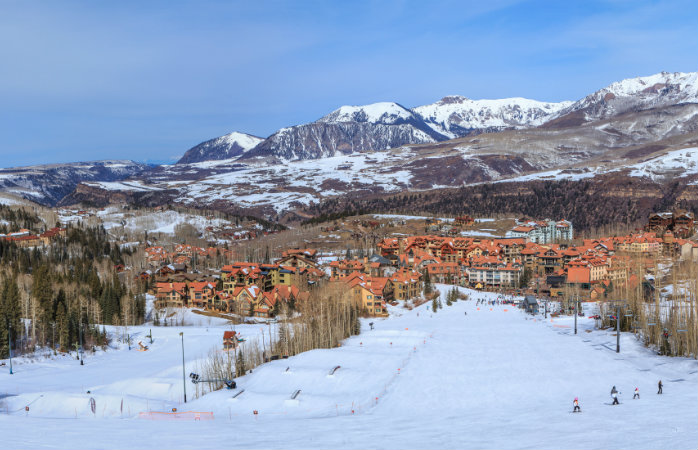 Get that big mountain feel with beginner slopes at Telluride