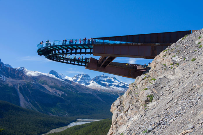 Not for the faint-hearted, this skywalk offers breathtaking views of the valley below
