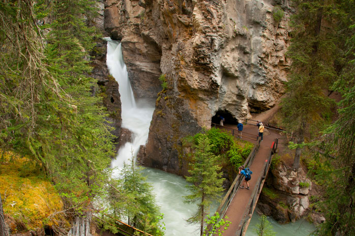 Lower Johnston Canyon Falls is worth the two-mile hike