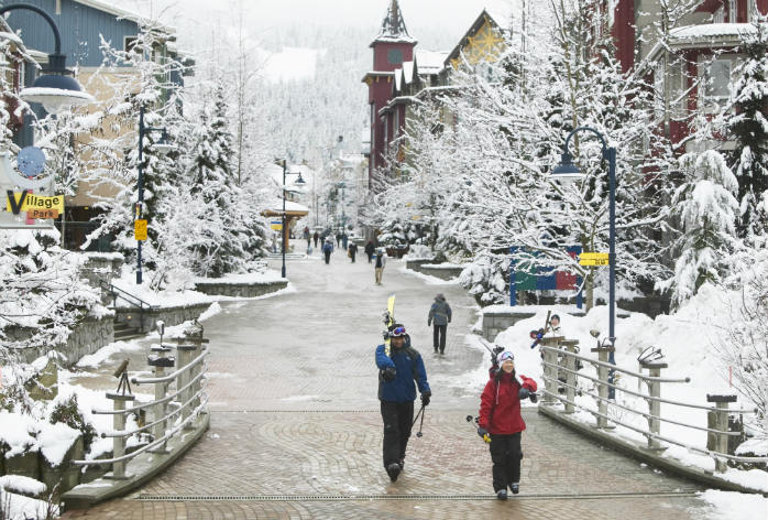 After a day on the slopes, head to Whistler Village