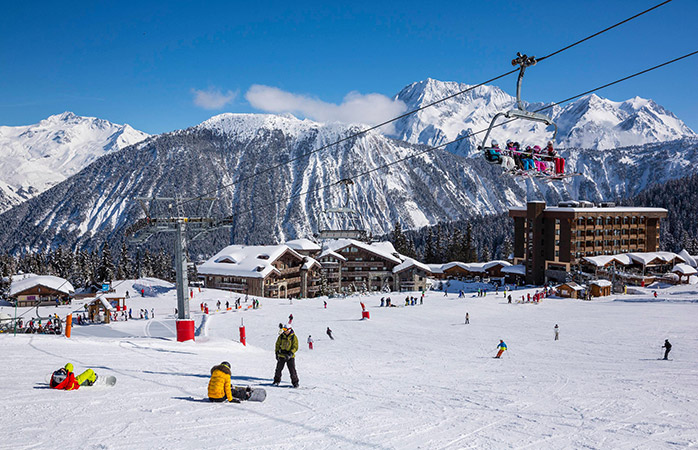 The beautiful Courchevel ski resort