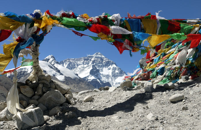 The North Base Camp, a great place to catch an exceptional view of Mount Everest