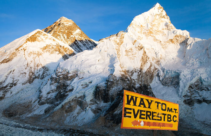 From Kala Patthar, you're so close to the peaks!
