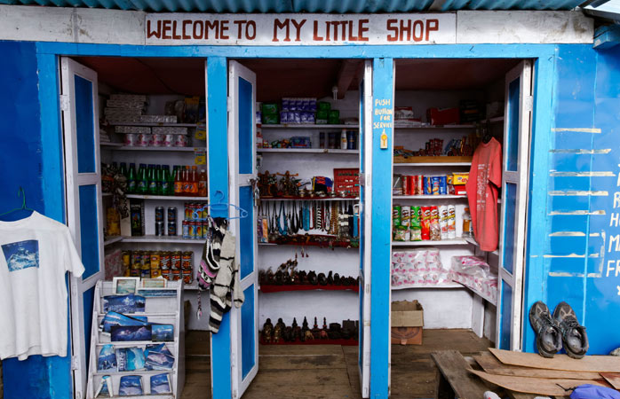 Missing snacks from home? Grab a pick-me-up in little shops in Tengboche