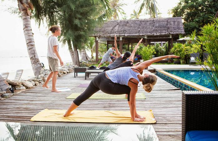 Bend so you don't break at Samahita Retreat in Koh Samui, Thailand