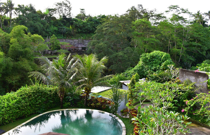 Blooming Lotus Yoga is located in lush surroundings just outside Ubud, Bali