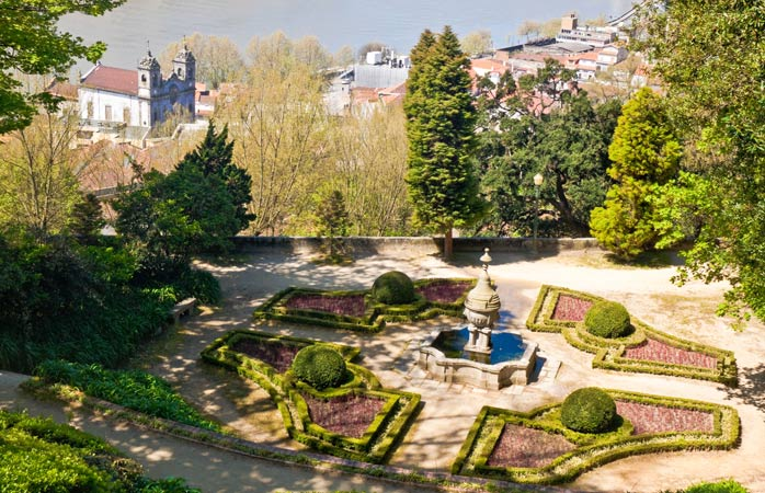 The Crystal Palace Gardens offer panoramic views over the Douro River - Porto, Portugal