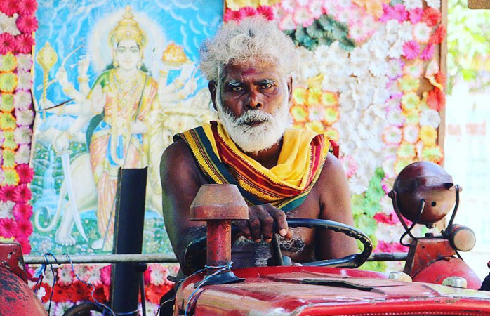 A northerner attending a Hindu festival
