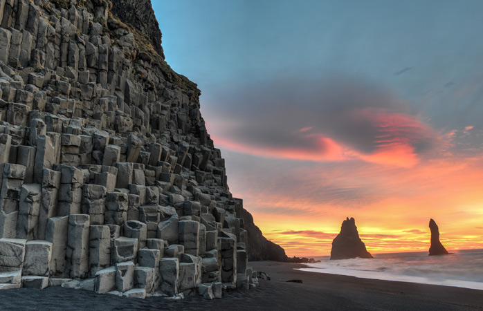 Beaches come in all shapes and sizes. Try out the black sand beach, Reynisfjara, when in Iceland