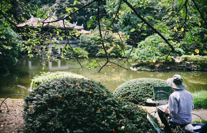 Shinjuku Gyoen is a tranquil haven in an otherwise busy area
