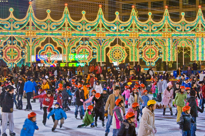 Make the most of the chilly weather and go ice-skating in Seoul