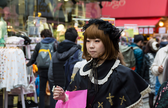 Takeshita Dori Street is the best place for people watching and quirky shopping