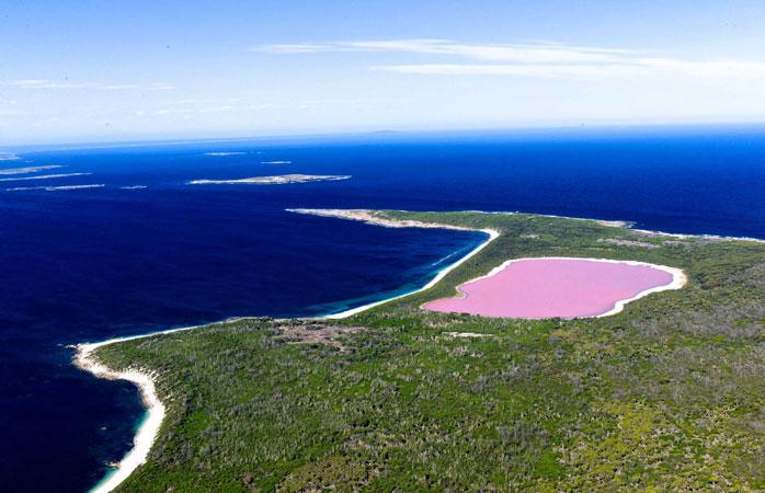 Take a dip in Australia's Pink Lake if you're feeling brave