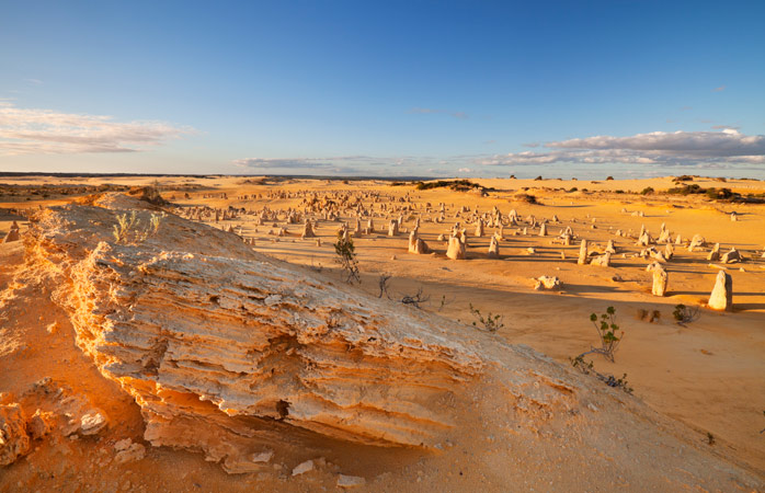 The Pinnacles at Nambung National Park have reared their heads against the merciless sun for millions of years