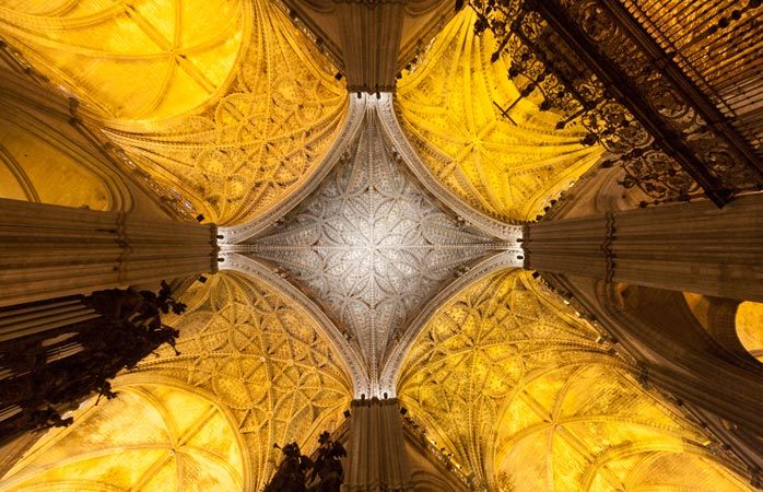 Seville boasts the world's largest Gothic cathedral, Cathedral of Saint Mary of the See