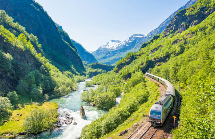 Get front row tickets to Norway's incredible nature with the Flåm Railway