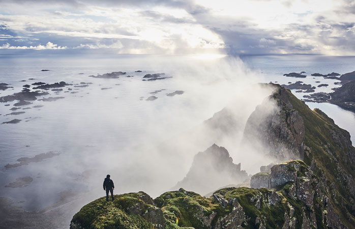 Hike to the top of Finnglunten for panoramic views of the surrounding fjord