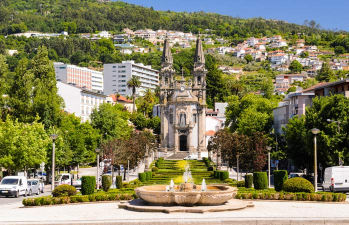 The Church of Our Lady of Consolation and the Holy Steps in Guimarães, Portugal