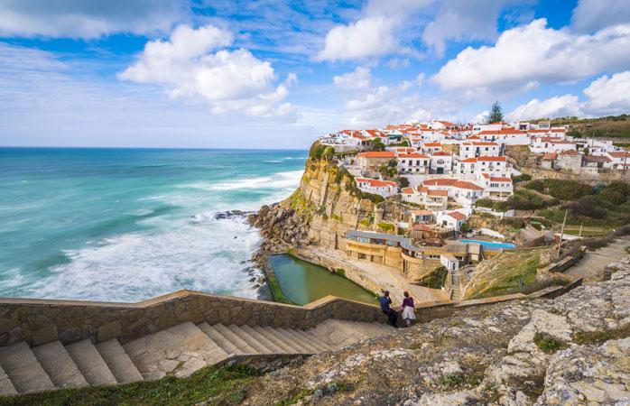 Stunning views of the coastal village Azenhas do Mar - Sintra, Portugal
