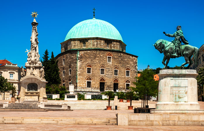 Pecs is home to diverse architecture; Mosque of Pasha Gazi Qasim is one such example