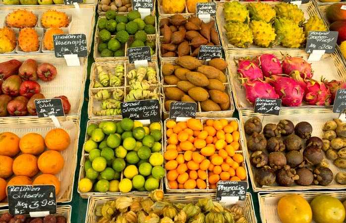 At Munich's Viktualienmarkt you'll find treats from all over the world