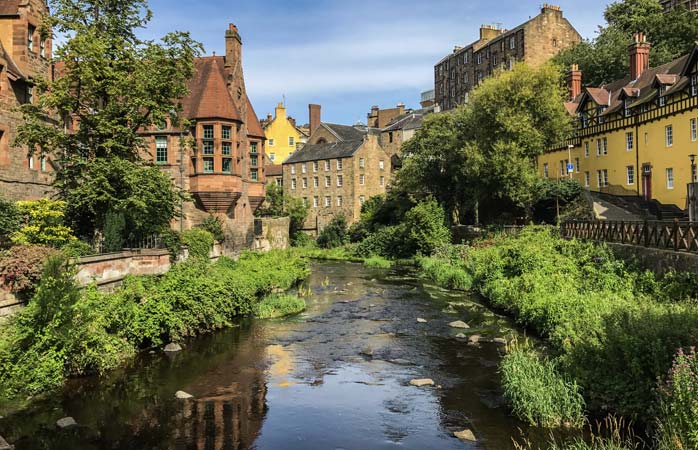 Edinburgh's charming Dean Village is as pretty as they come