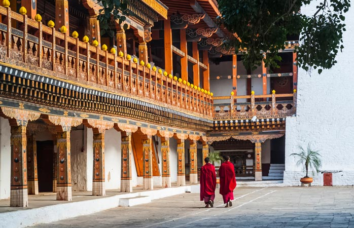Bhutan is all about the Buddhist peace