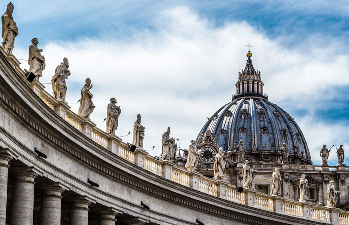 The soaring dome of St Peter's Basilica is a sight to behold