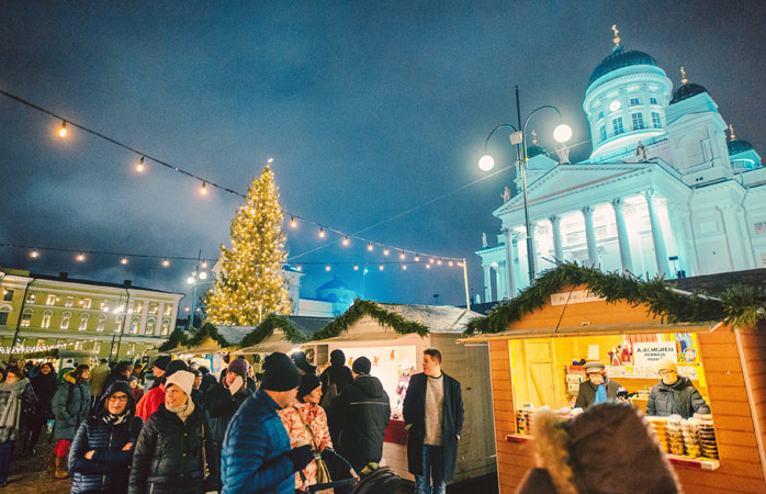 Meet Santa Claus himself at the Helsinki Christmas Market