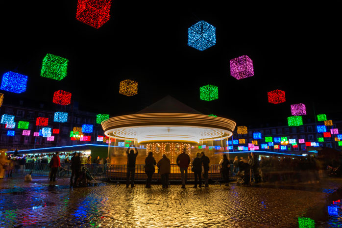 Visit Madrid for a colourful Christmas market experience