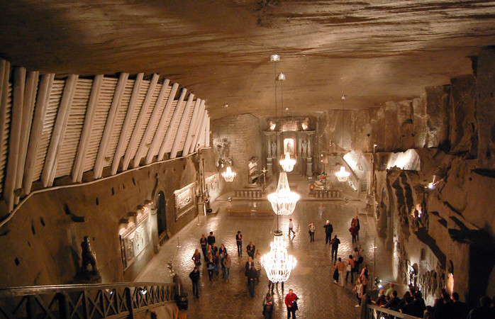 The fascinating Wieliczka Salt Mine is just a 30 minute drive from Krakow