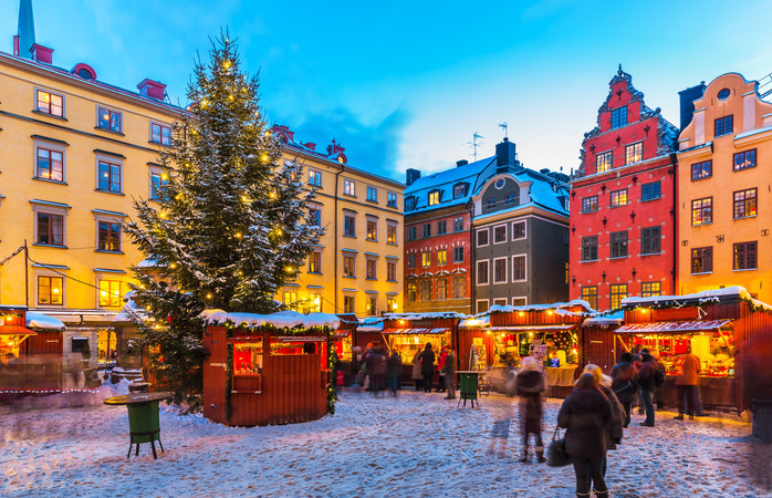 Stockholm's ambient Old Town Christmas Market
